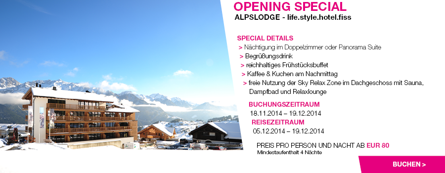 Midweek special alpslodge for Design hotels skiurlaub