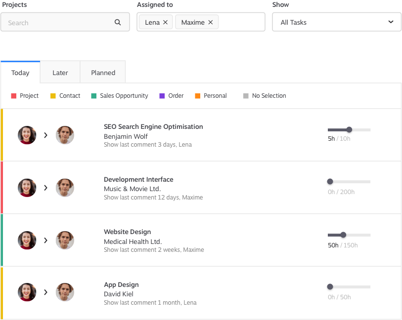 Task Overview KundenMeister CRM