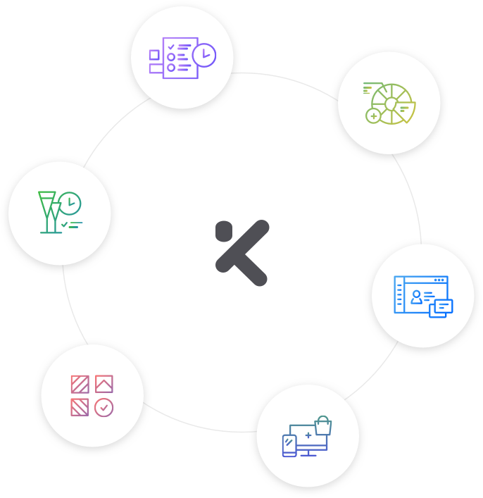 Icons der KundenMeister CRM Module